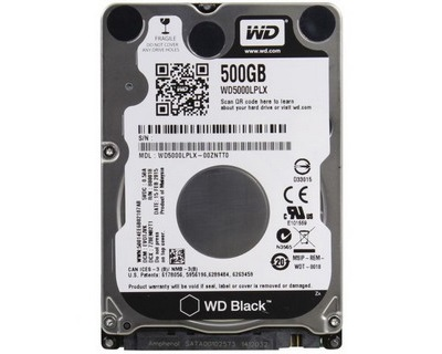 "WD Black 500GB (WD5000LPLX) 2.5"" Mobile HDD 7200rpm/32MB Cache"
