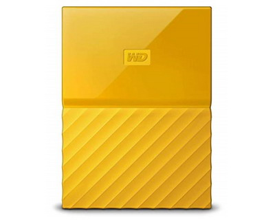 WD My Passport Portable Drive Yellow