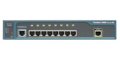 Cisco Catalyst 2960PD-8TT-L 8-Port Switch with 1-Port Gigabit Uplink